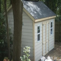 shed with hardiplank